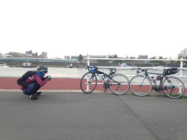 夫婦でロードバイクでサイクリング♪