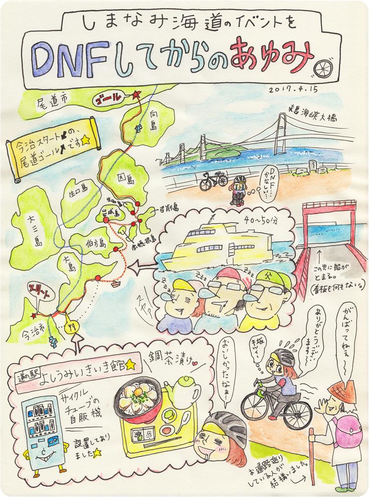 しまなみ海道を走るイベント『グランツールせとうち』途中リタイアしてから、楽しく帰って来ました!