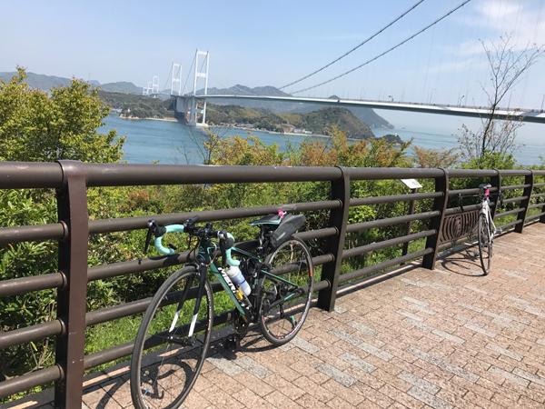 リタイアした今治の糸山公園。しまなみ海道を走るイベント『グランツールせとうち』途中リタイアしてから、楽しく帰って来ました!