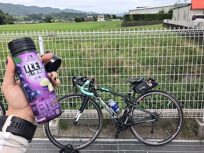 グランフォンド亀山温泉ホテル2017に参加してきました!暑くて途中コンビニでアイス休憩。