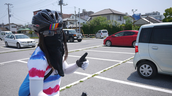 サイクリングは木更津のコインパーキングからスタート!