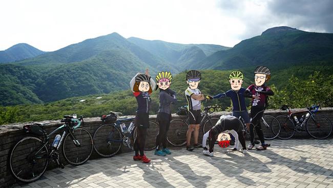 初心者ローディには自信がつく!那須でほぼヒルクライムなサイクリングコースを走ってきました♪みんなで集合写真!