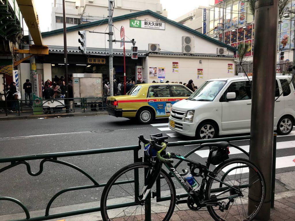 29駅ある山手線一周ライドしてきました!とても楽しく都内をサイクリングできました!新大久保!