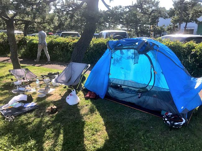 低身長女性ローディがキャンプ道具一式をロードバイクに積んでデイキャンプしてきました。〜全てがとにかく軽くてコンパクト!購入したキャンプ道具の使用レビュー〜