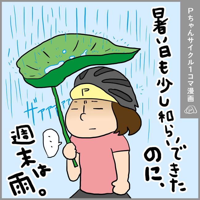 【1コマ漫画】今年の夏は暑すぎてサイクリングも命がけ!やっと落ち着きそうだと思ってたのに、まだやって来るのかい!