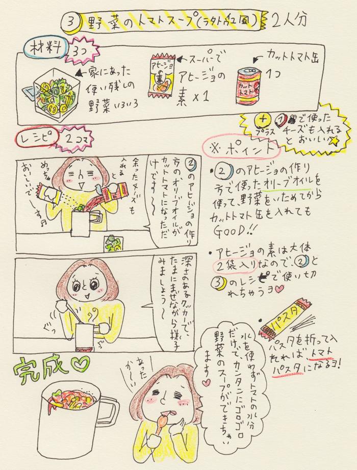 【キャンプ飯編】包丁も使わずに調味料は2つだけで4品!〜Pちゃんのお気軽クッキング〜トマトスープのレシピ