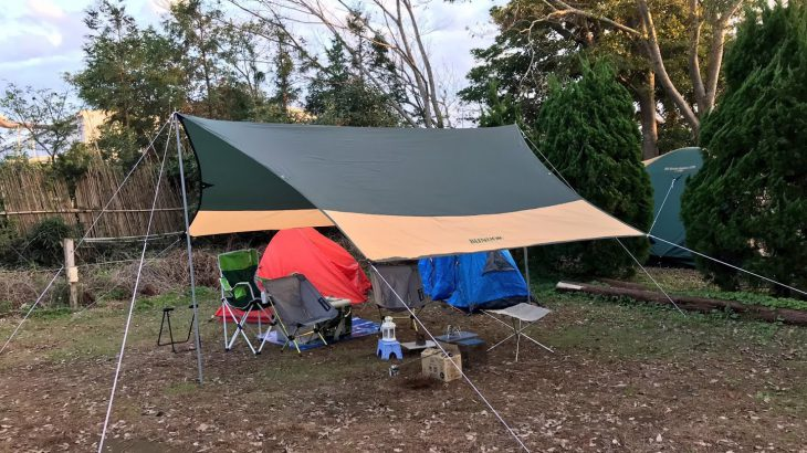 BUNDOKのタープは優秀ですね!【格安&使いやすい】これで超快適キャンプに!焚き火台・タープ・ナイフの使用レビュー☆