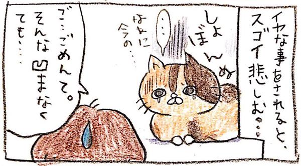 【りんこ編】Twitterに投稿しているPちゃんの日常4コマ漫画まとめ 落ち込む猫