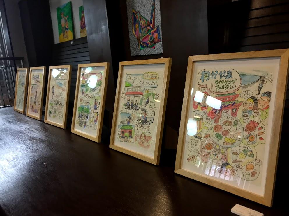 サイクルジム&カフェバー三ノ輪での個展でおこなったライブペイント映像公開!自転車アート作品全部購入可能です!