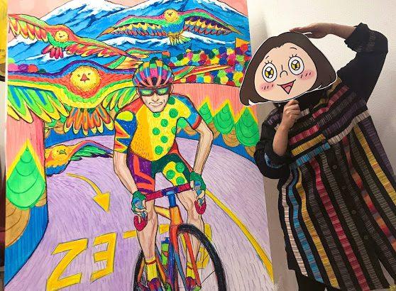 サイクルジム&カフェバー三ノ輪での個展でおこなったライブペイント映像公開!10日の最終日には似顔絵ミニイベント開催します^^