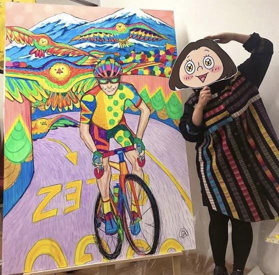 【予約受付中】アート個展&ライブペイント&ワークショップやります!筑波山や霞ヶ浦サイクリングがてら来てね☆