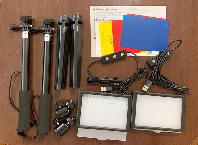 2個セットの格安ライトを購入!オンライン会議以外に、物撮りや自撮り棒にも便利なアイテムでした