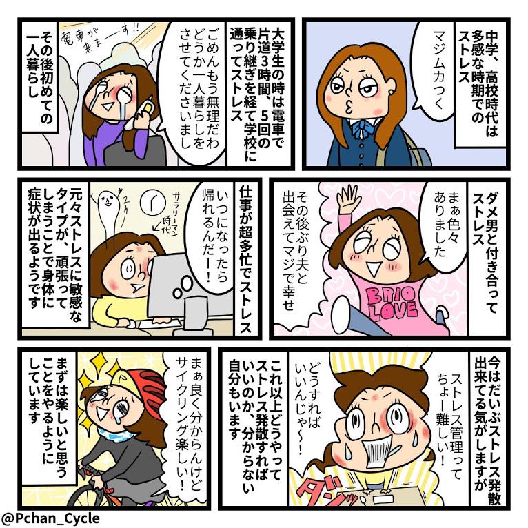 TwitterやInstagramに投稿しているPちゃんの日常4コマ漫画まとめ8<全10話>皮膚病の原因はストレス?
