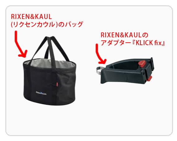 リクセンカウルのバッグとクリックフィックス